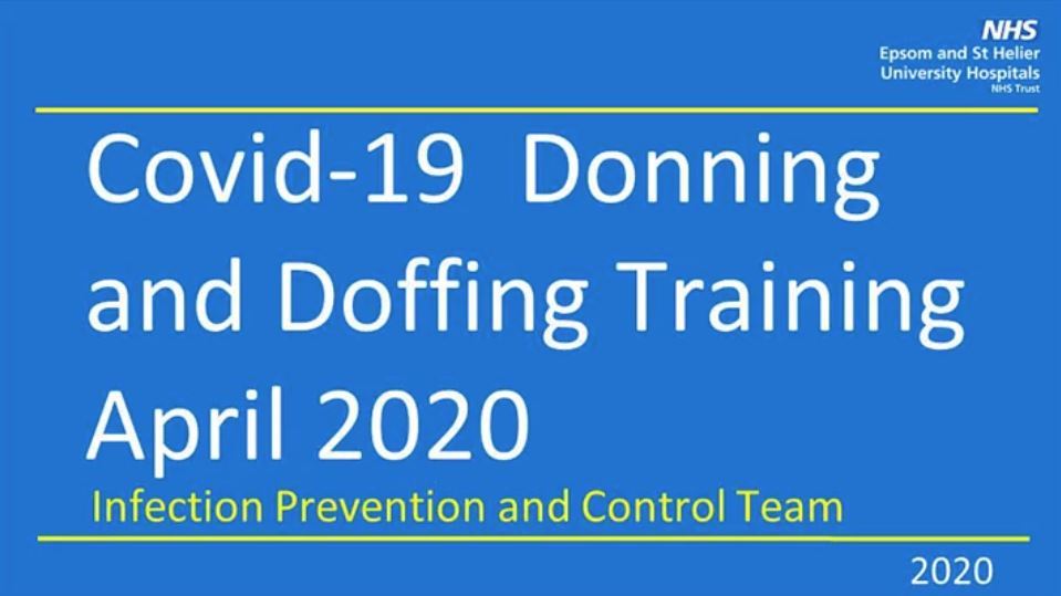 ESTH Covid-19 Donning and Doffing front PowerPoint slide